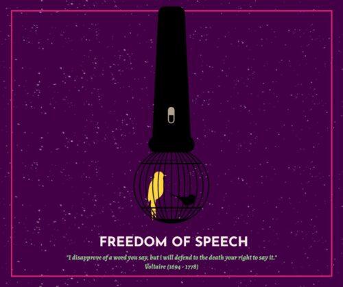 Freedom of speech - 940 x 788 px