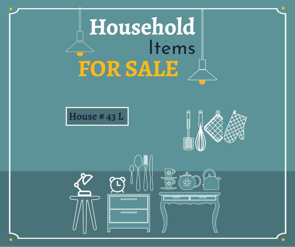 Household Items for sale - 940 x 788 px